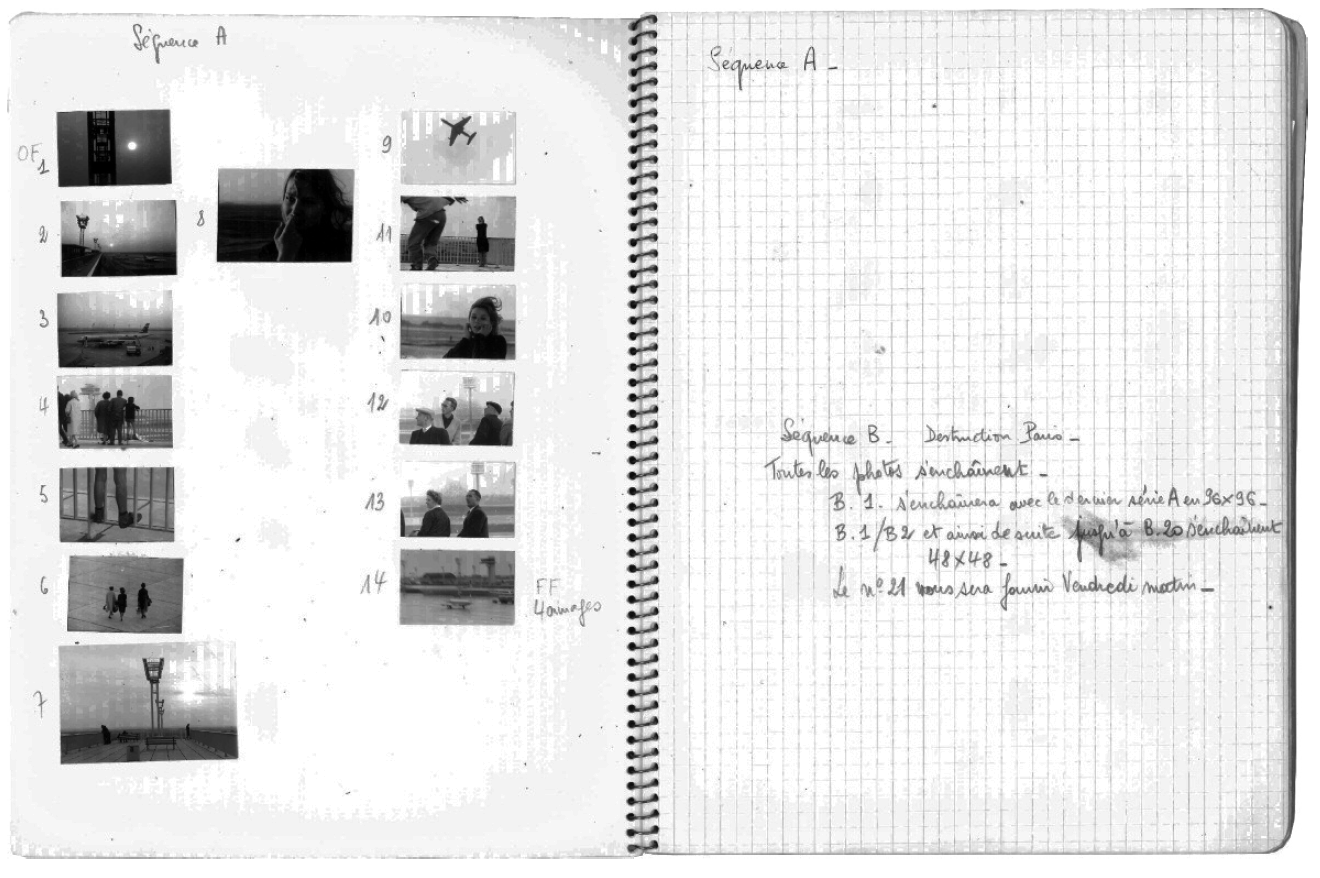 La Jetée Workbook - interior