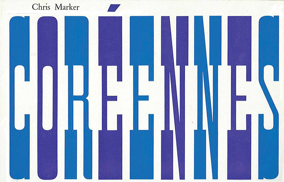 Coréennes by Chris Marker - English Text | Chris Marker