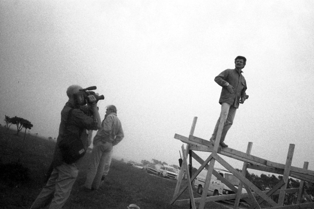 Tarkovsky and Chris Marker on set of The Sacrifice
