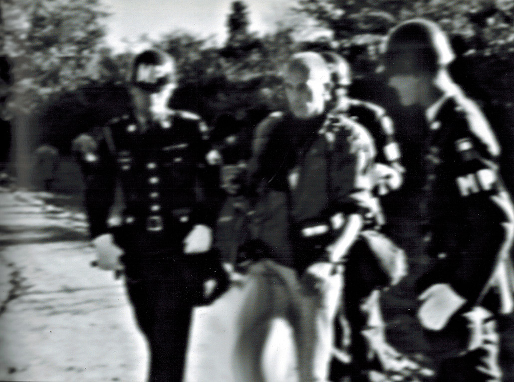 Chris Marker accosted by the Military Police Pentagon 1967