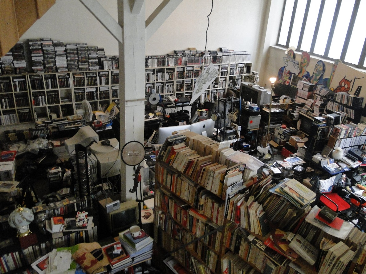Chris Marker studio atelier library