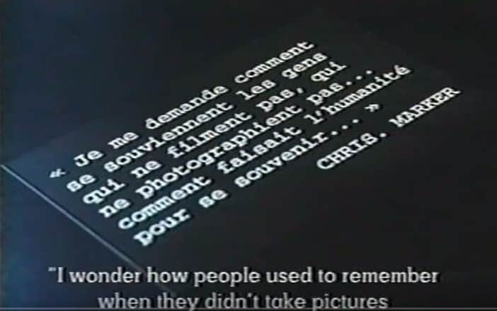 Robert Kramer tribute to Chris Marker - citation - memory