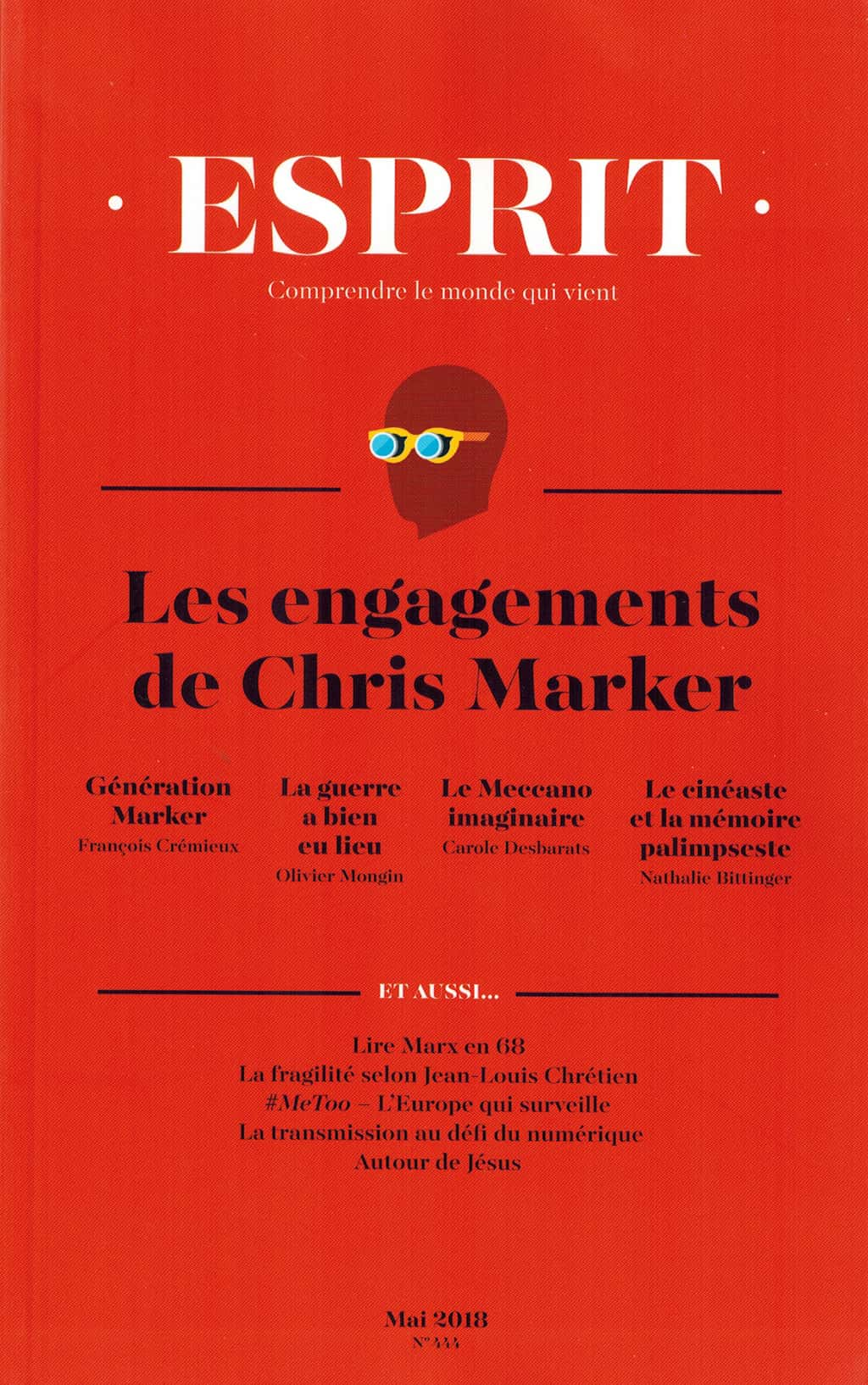 Esprit 2018 Les Engagements de Chris Marker