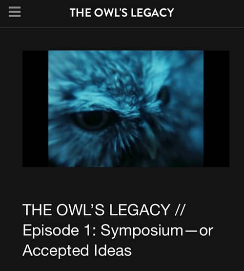 The Owl's Legacy site theowlslegacy.vhx.tv